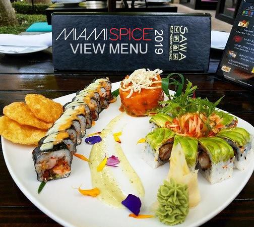 miami spice menu sawa restaurant 2019